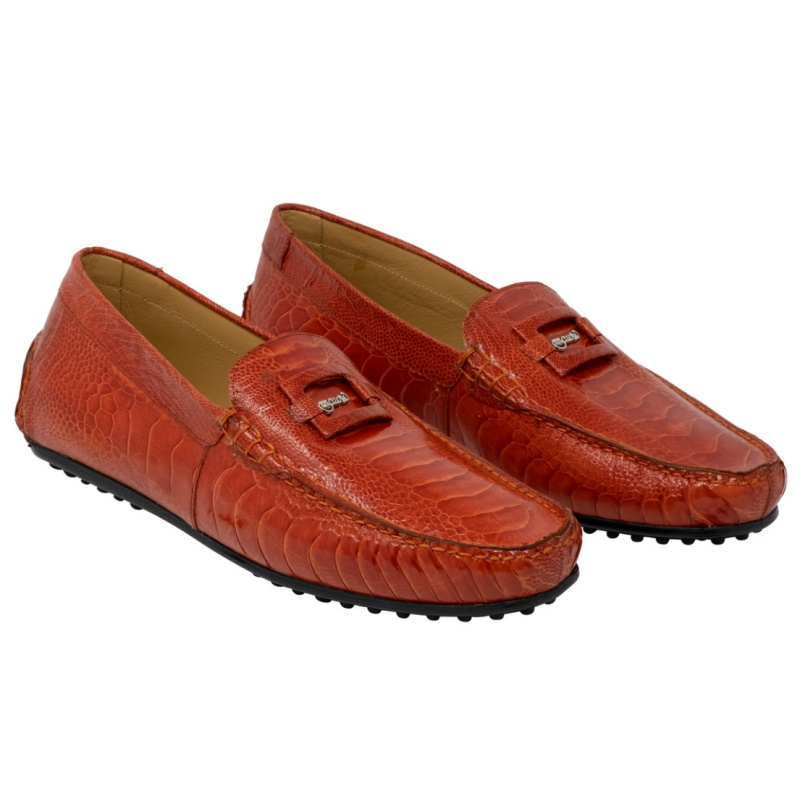 Mauri 3405 Scenic Ostrich Driving Loafers Red Image
