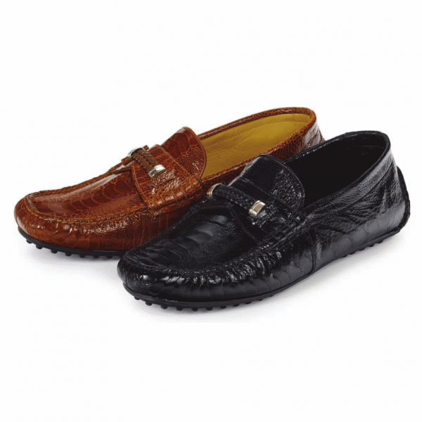 Mauri 3425 Hayez Ostrich Driving Shoes (SPECIAL ORDER) Image
