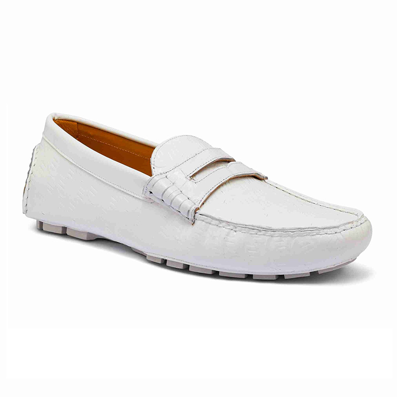 Mauri 3502 Baby Crocodile / Embossed Patent Loafer White Image