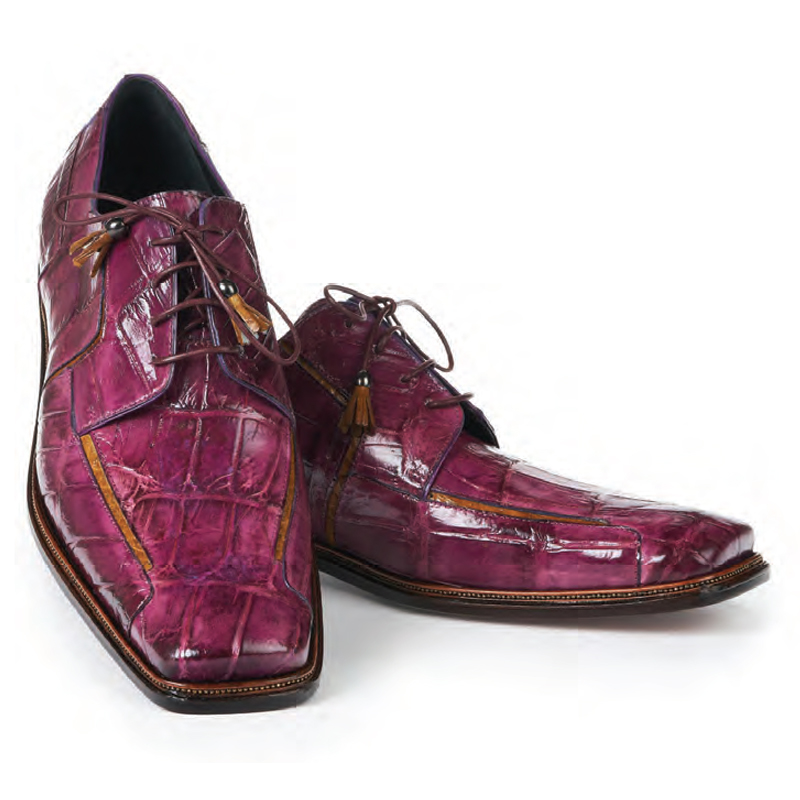 Mauri 3029 Prince Alligator Dress Shoes Orchid / Mustard Image