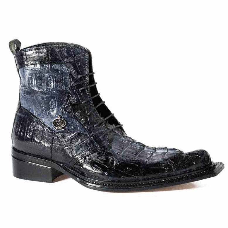 Mauri 42742 Raffaello Crocodile & Hornback Boots Gray / Black (Special Order) Image