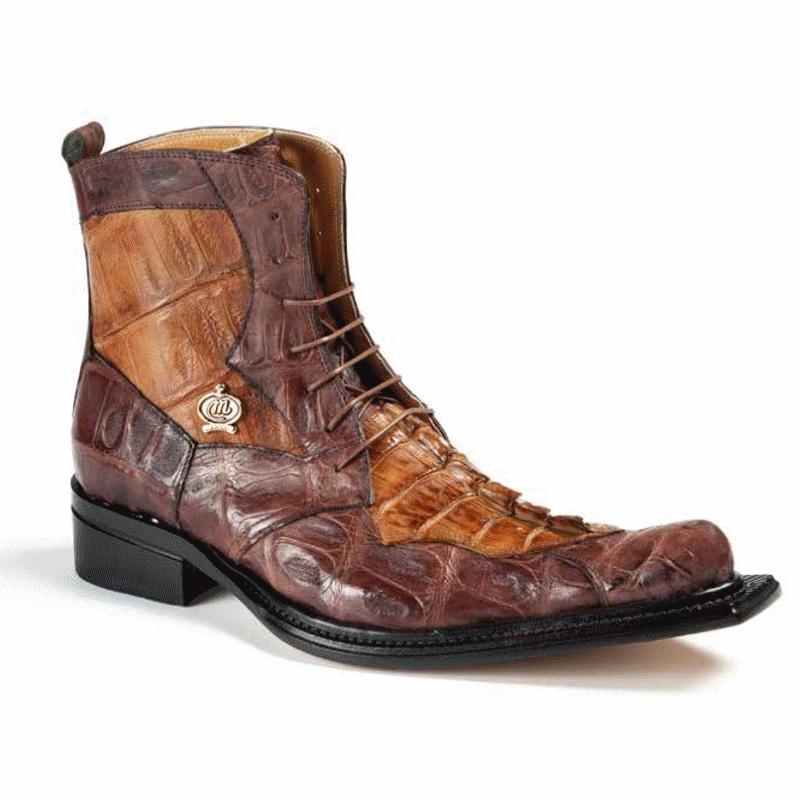 Mauri 42742 Raffaello Crocodile & Hornback Boots Sport Rust / Brandy (Special Order) Image