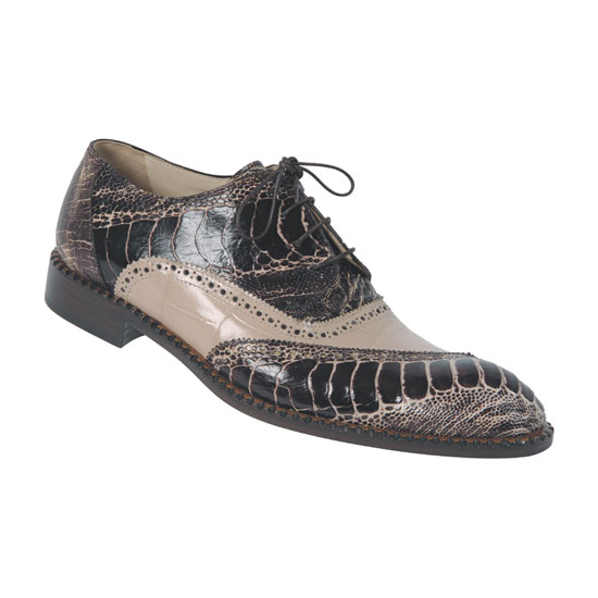 Mauri 4399 Ostrich Leg Shoes Brown/Champagne (Special Order) Image