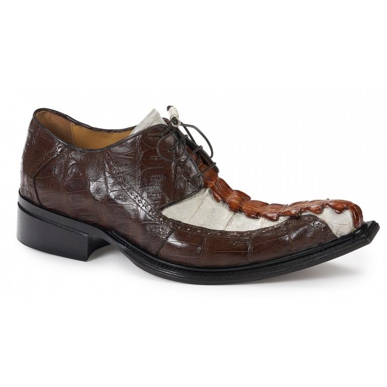 Mauri 44203 Brenta Hornback & Crocodile Shoes Gold / Rust / Acre Raindrops Image