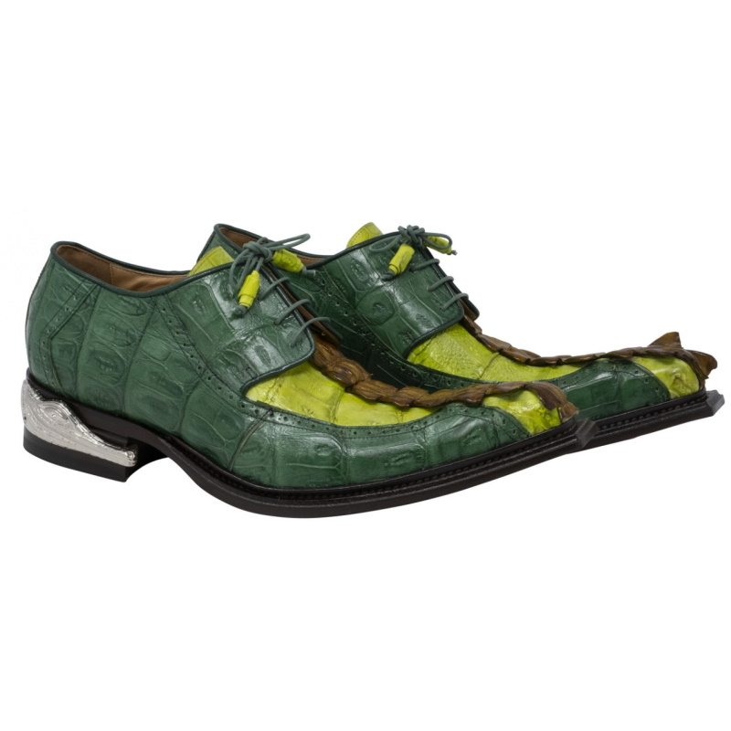 Mauri 44203 Double Dragon Hornback Shoes Mustard / Lemon / Leaf Image