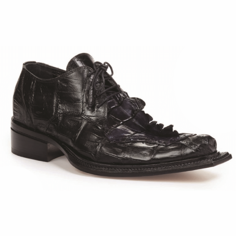Mauri 44209 Crocodile & Hornback Shoes Black (Special Order) Image