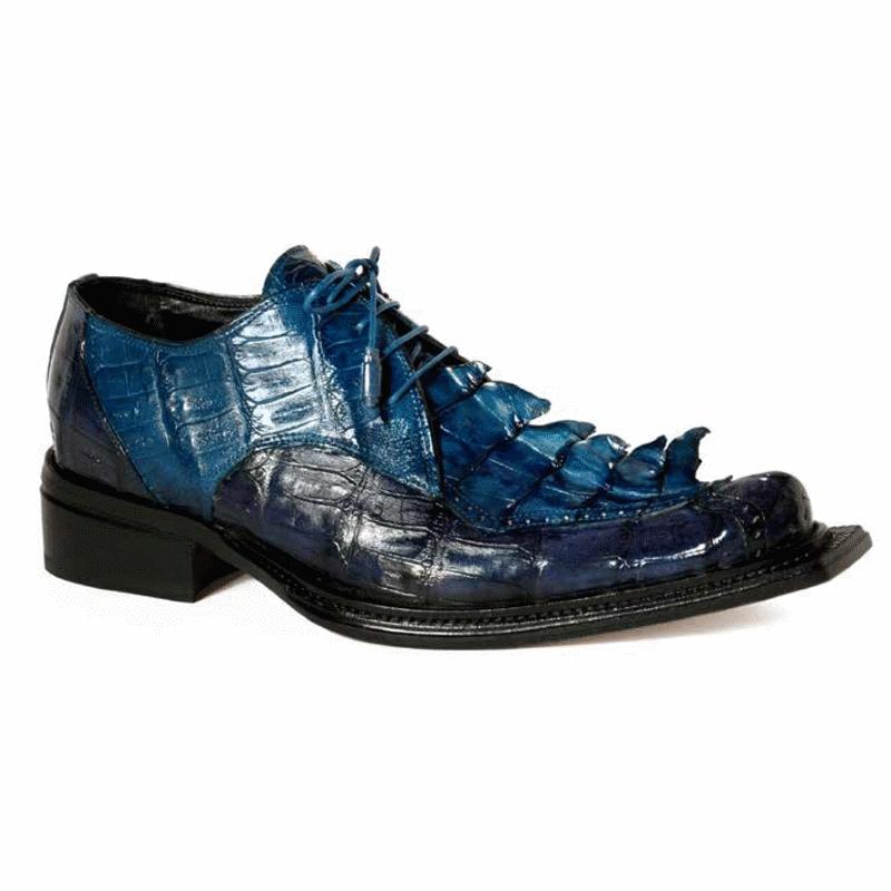Mauri 44209 Giotto Crocodile & Hornback Shoes Wonder Blue / Caribbean Blue (Special Order) Image