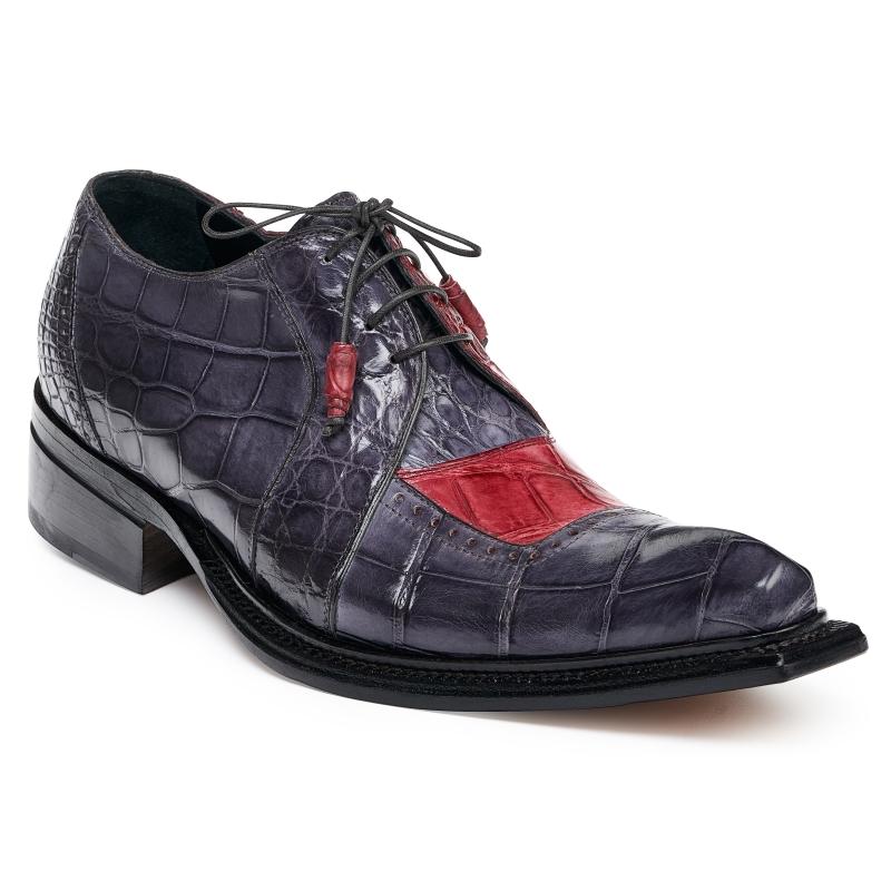 Mauri 44268 Alligator Shoes Mediume Gray / Bordo Image