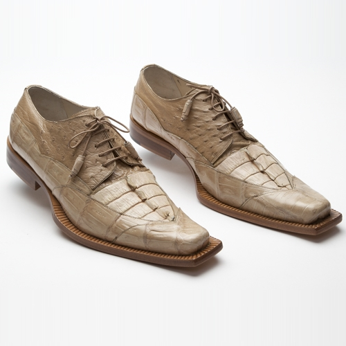 Mauri 44272 Ostrich / Crocodile / Hornback Shoes Champange (Special Order) Image