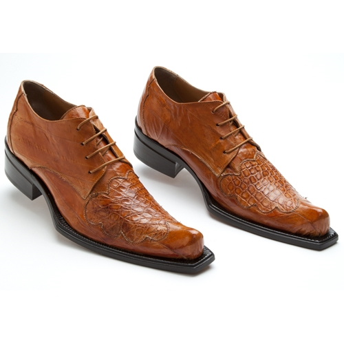 Mauri 44295 Viper Crocodile & Eel Shoes Cognac (SPECIAL ORDER) Image