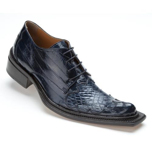 Mauri 44295 Viper Crocodile & Eel Shoes Wonder Blue (SPECIAL ORDER) Image