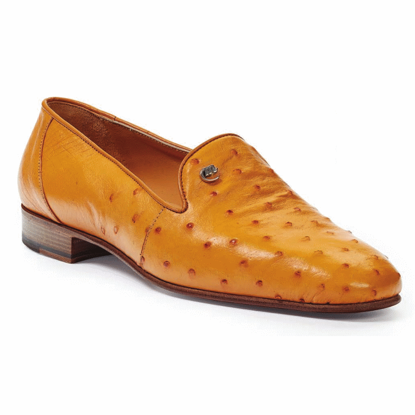 Mauri 4516 / 5 Traversi Ostrich Loafers Buttercup (Special Order) Image
