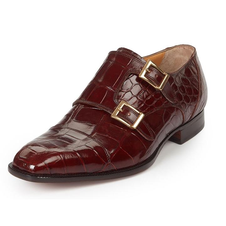 Mauri 4560 Via Spiga Alligator Monk Strap Shoes Gold (Special Order) Image
