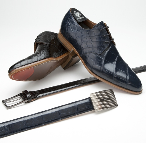 Mauri 4580 Bernini Alligator Derby Shoes (Special Order) Image
