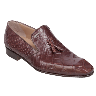 Mauri 4585-4 Alligator Tassel Loafers Golden Brown (SPECIAL ORDER) Image