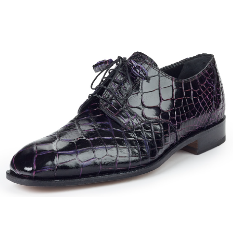 Mauri 4613 Alligator Derby Shoes Grape (SPECIAL ORDER) Image