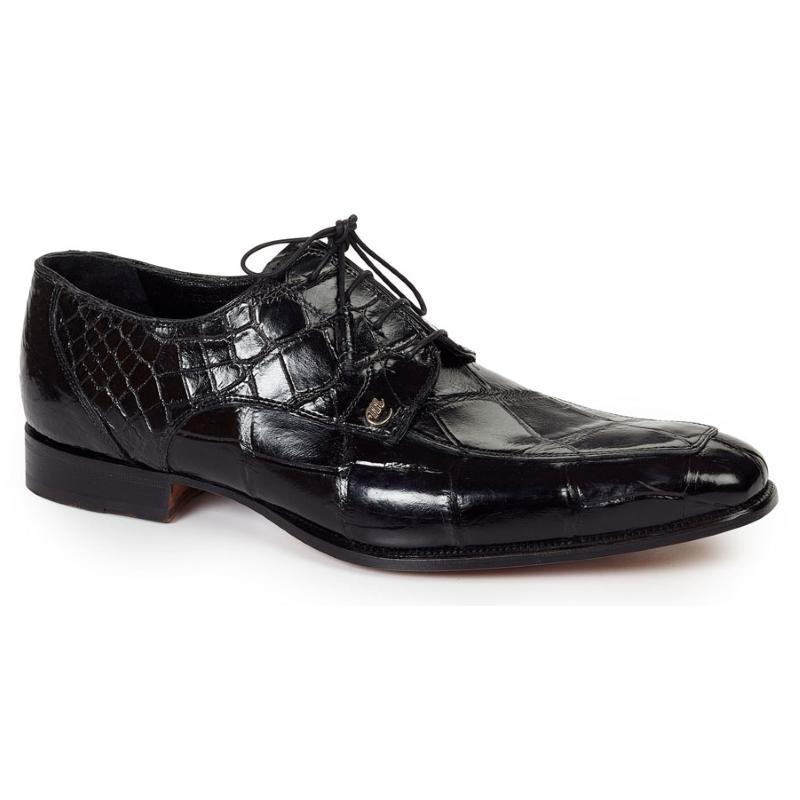 Mauri 4642 Arsenal Alligator Split Toe Shoes Black (SPECIAL ORDER) Image