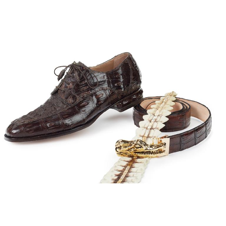 Mauri 4642 Arsenal Baby Crocodile & Hornback Dress Shoes TD Moro (Special Order) Image