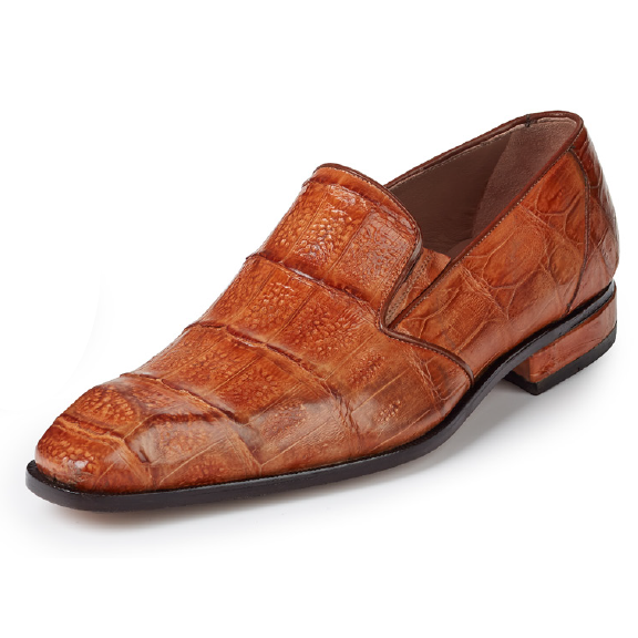 Mauri 4673 Amber Baby Hornback Crocodile Loafers Cognac (Special Order) Image