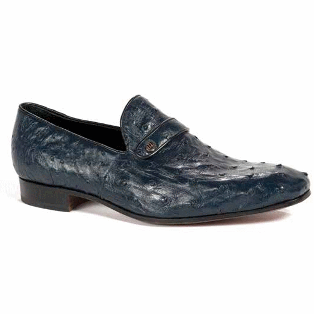 Mauri 4753-1 Ostrich Quill Loafers Wonder Blue (SPECIAL ORDER) Image