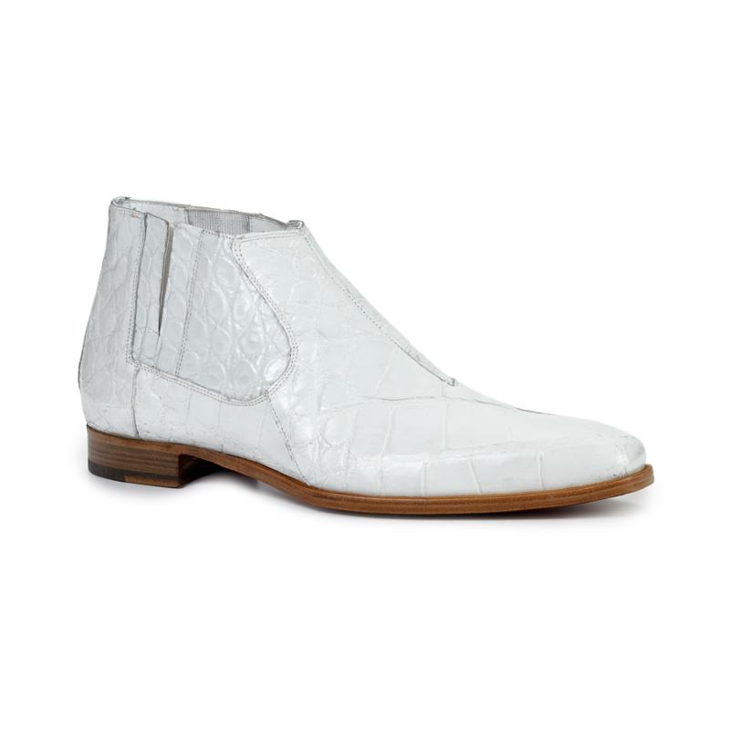 Mauri 4780 Alligator Boots White Image