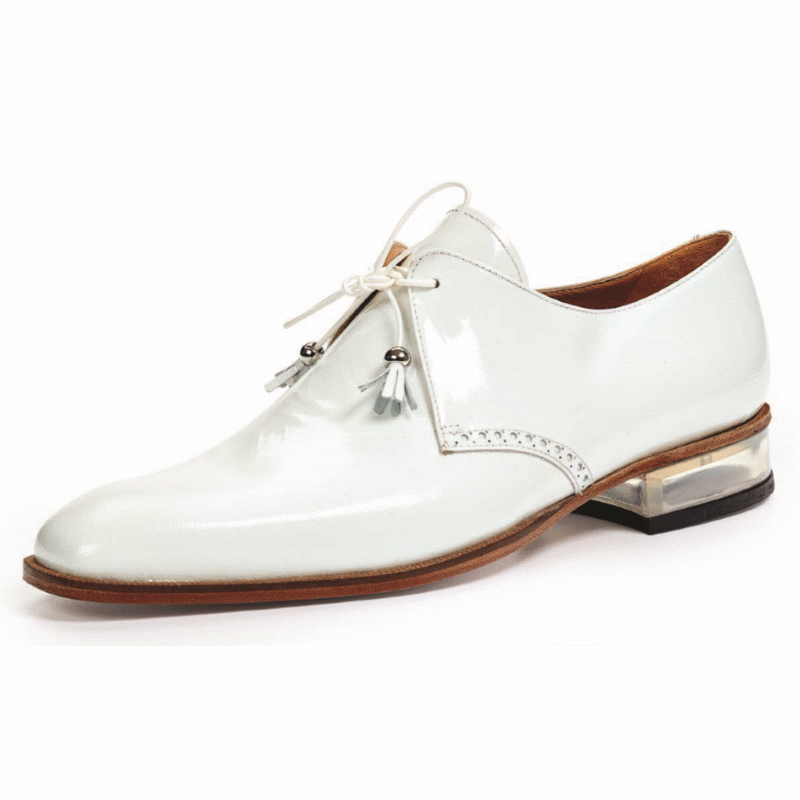 Mauri 4801 Mantegna Patent Leather Shoes White (Special Order) Image