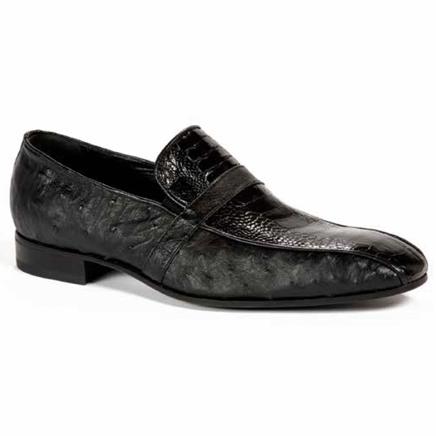 Mauri 4825 Ostrich Loafers Black (SPECIAL ORDER) Image
