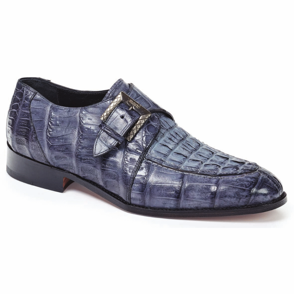 Mauri 4834 Canaletto Crocodile & Hornback Monk Strap Med Gray (Special Order) Image