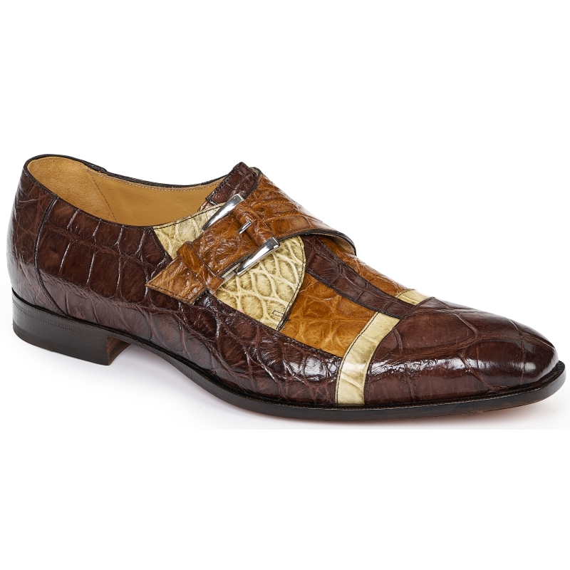 Mauri 4841 Alligator Monk Strap Tmoro / Bone / Brandy Image