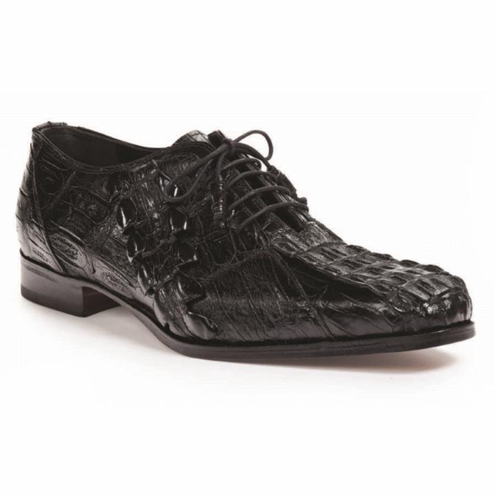 Mauri 4844 Pelligrini Crocodile & Hornback Oxfords Black (Special Order) Image