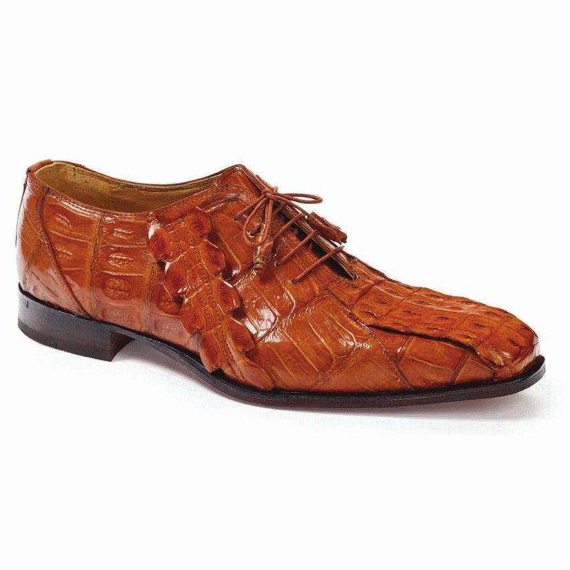 Mauri 4844 Pelligrini Crocodile & Hornback Oxfords Cognac (Special Order) Image