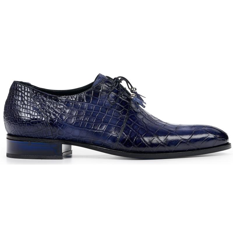Mauri 4851 Alligator Oxfords Wonder Blue (SPECIAL ORDER) Image