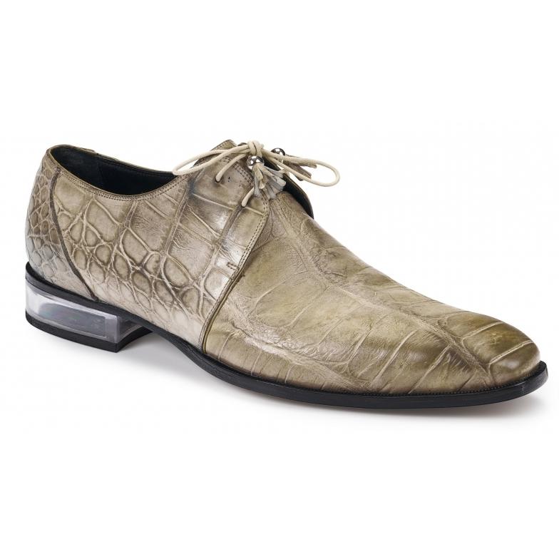 Mauri 4851 Trebbia Alligator Derby Shoes Acre Raindrops Image