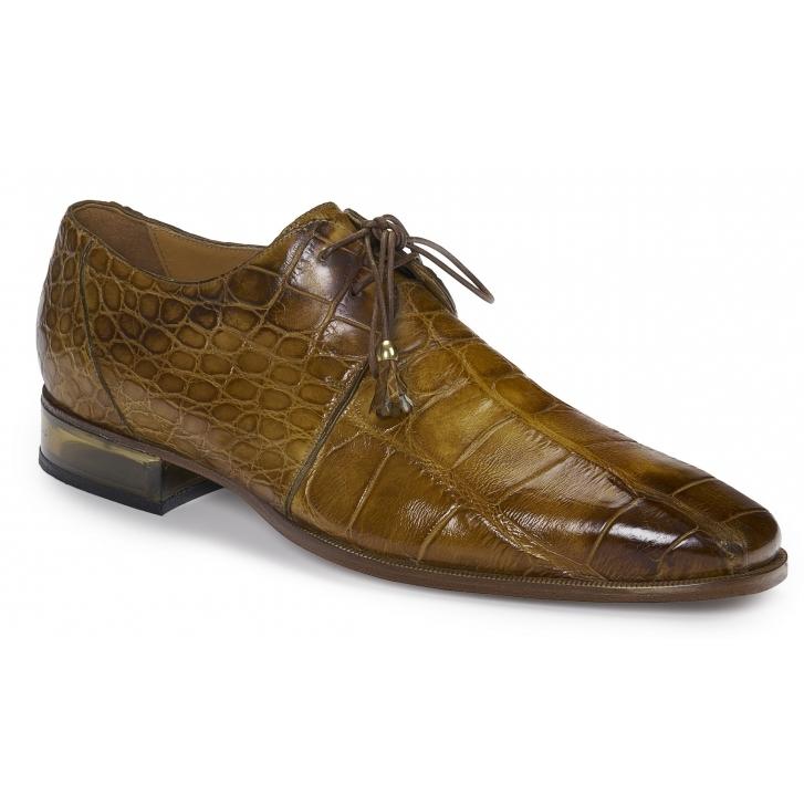 Mauri 4851 Trebbia Alligator Derby Shoes Mustard Image