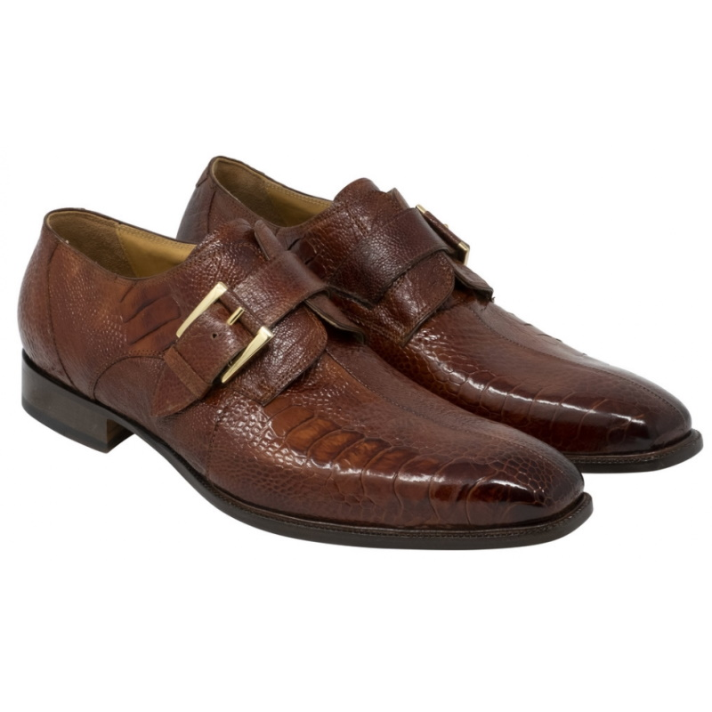 Mauri 4853-3 Cardinal Ostrich Leg Monk Strap Shoes Gold Image