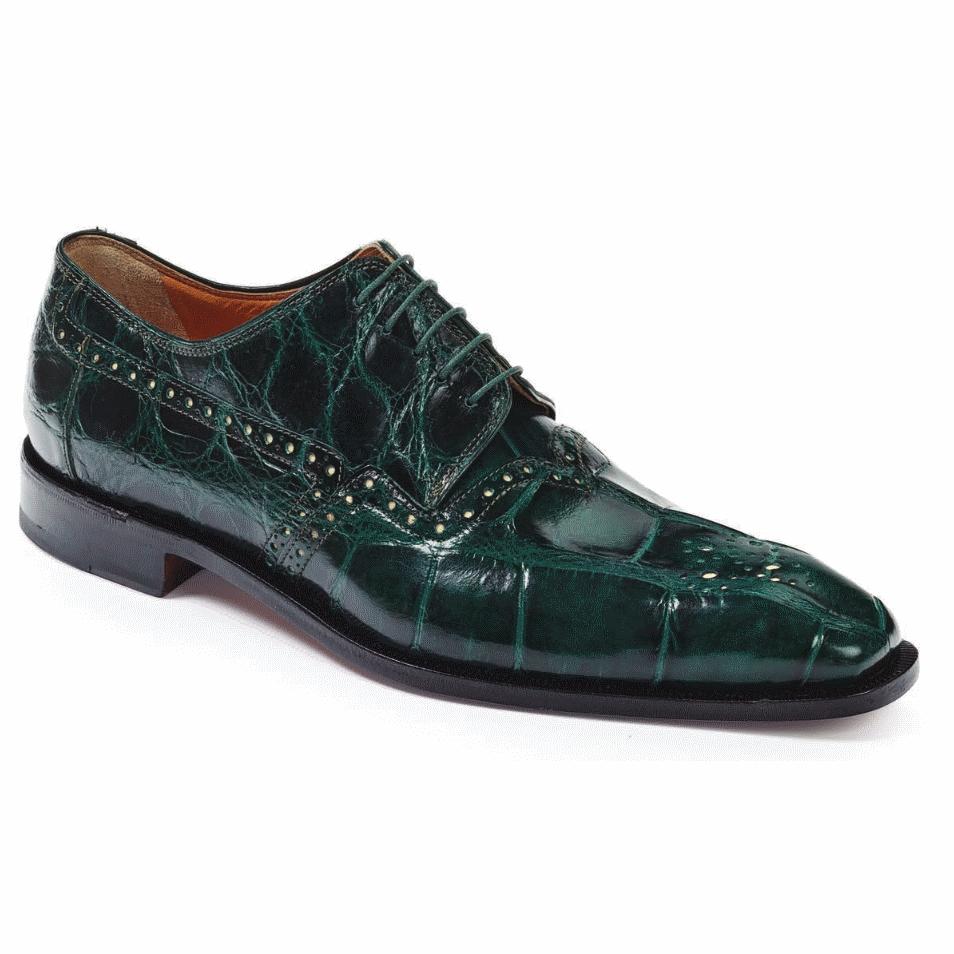 Mauri 4860 Longhi Alligator Shoes Hunter Green (Special Order) Image