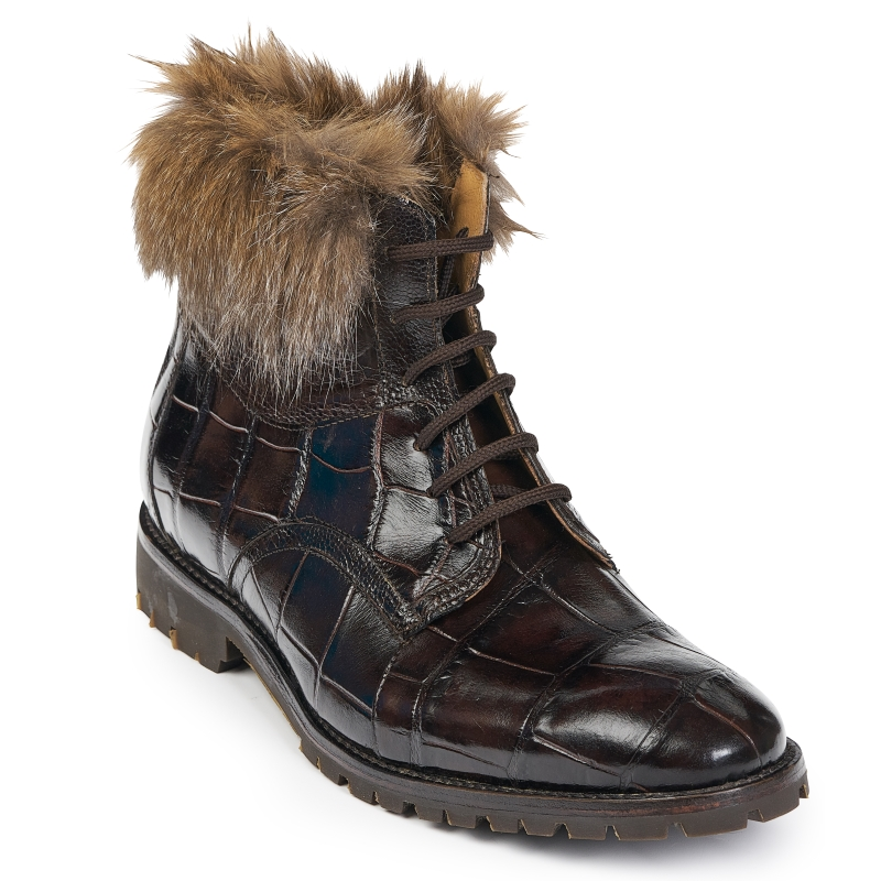 Mauri 4868 Alligator & Ostrich Boots Sport Rust (SPECIAL ORDER) Image