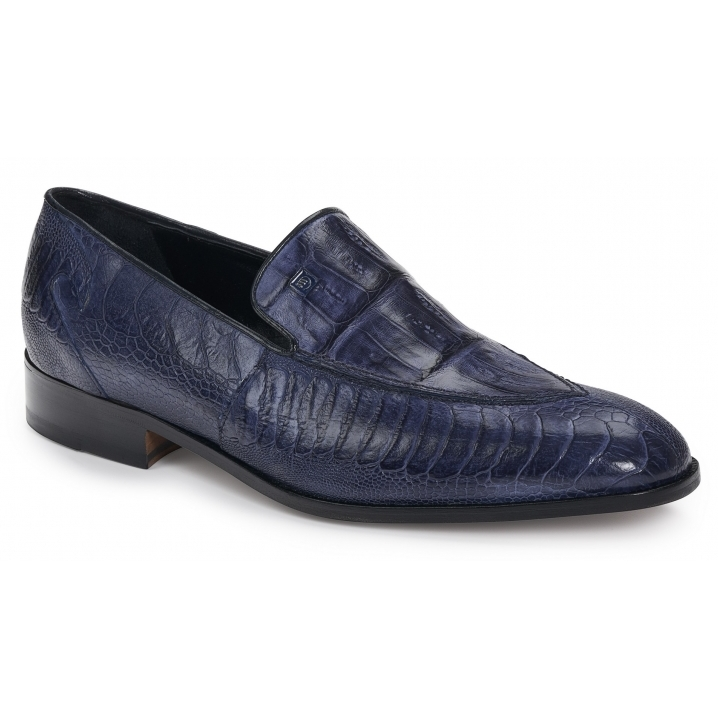 Mauri 4878 Serio Ostrich & Crocodile Loafers Wonder Blue Image