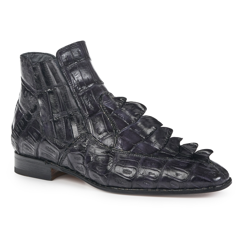 Mauri 4880 Crocodile Hornback Boots Charcoal Gray (SPECIAL ORDER) Image