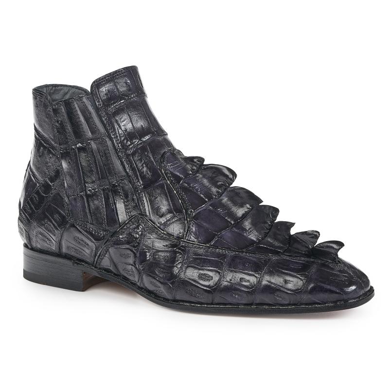 Mauri 4880 Crocodile Hornback Boots Charcoal Gray Image