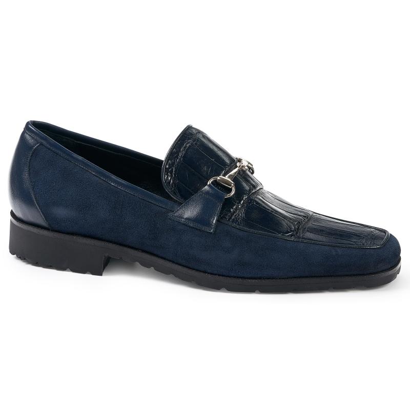 Mauri 4882 Alligator & Suede Loafers Wonder Blue Image