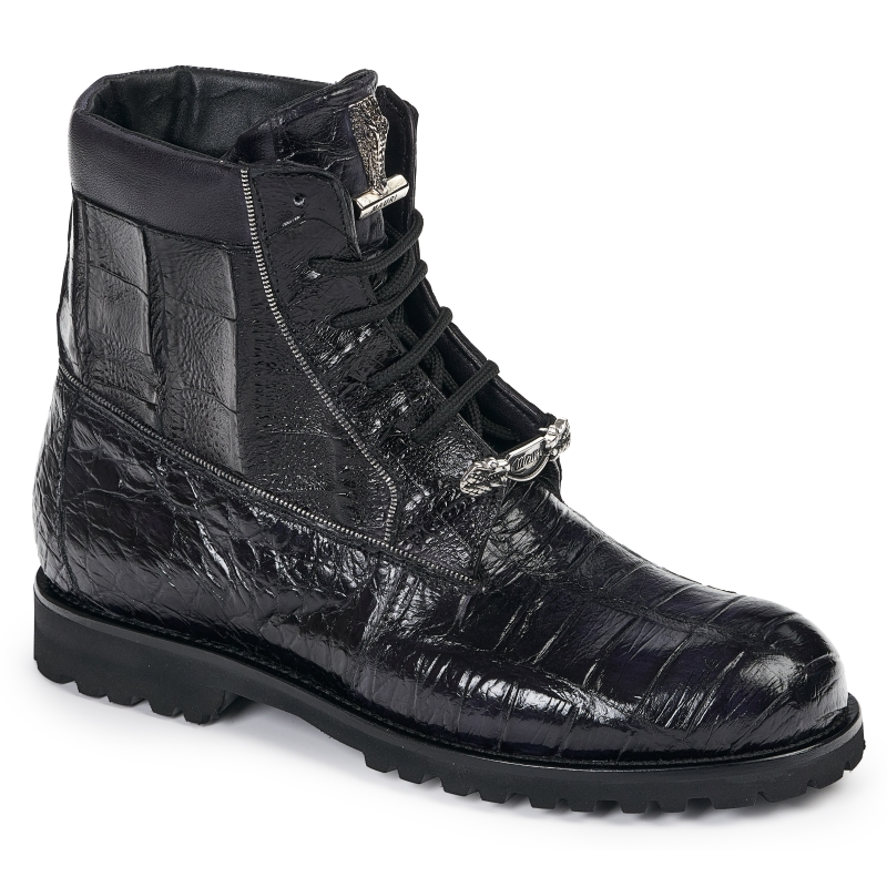 Mauri 4884 Alligator & Crocodile Boots Black Image