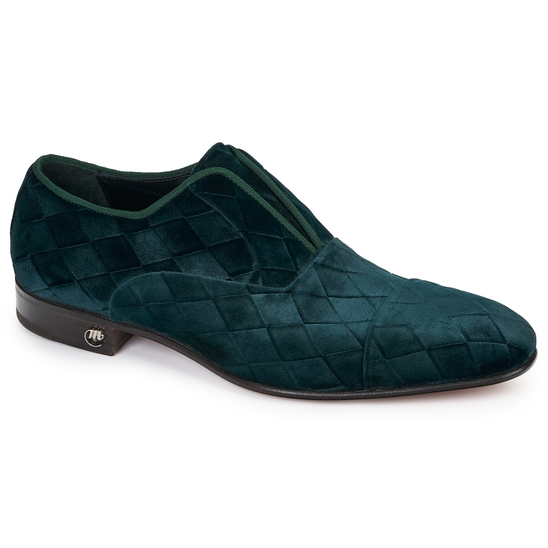 Mauri 4886 Fabric Loafers Emerald Green Image