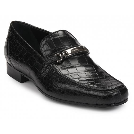 Mauri 4894 Simeto Alligator Bit Loafers Black Image