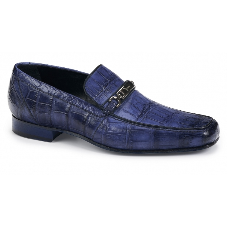 Mauri 4894 Simeto Alligator Bit Loafers Wonder Blue Image