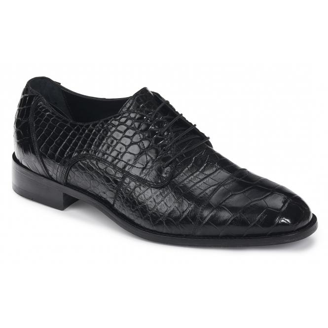 Mauri 4896 Adige Alligator Derby Shoes Black Image