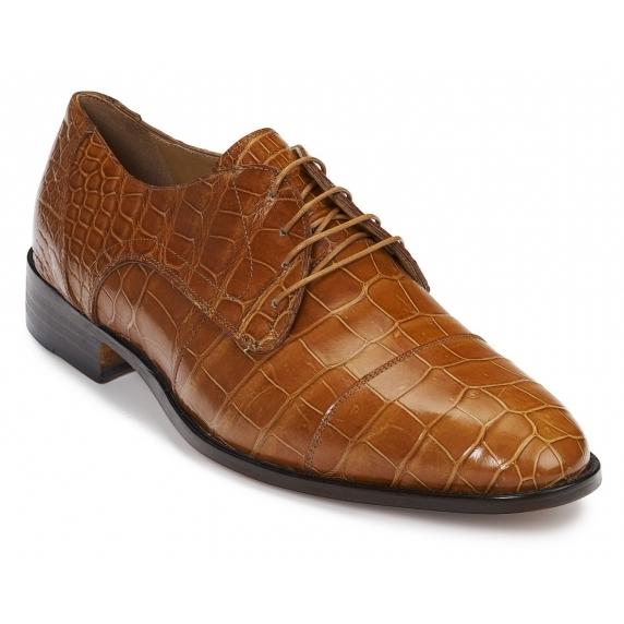 Mauri 4896 Adige Alligator Derby Shoes Cognac Image