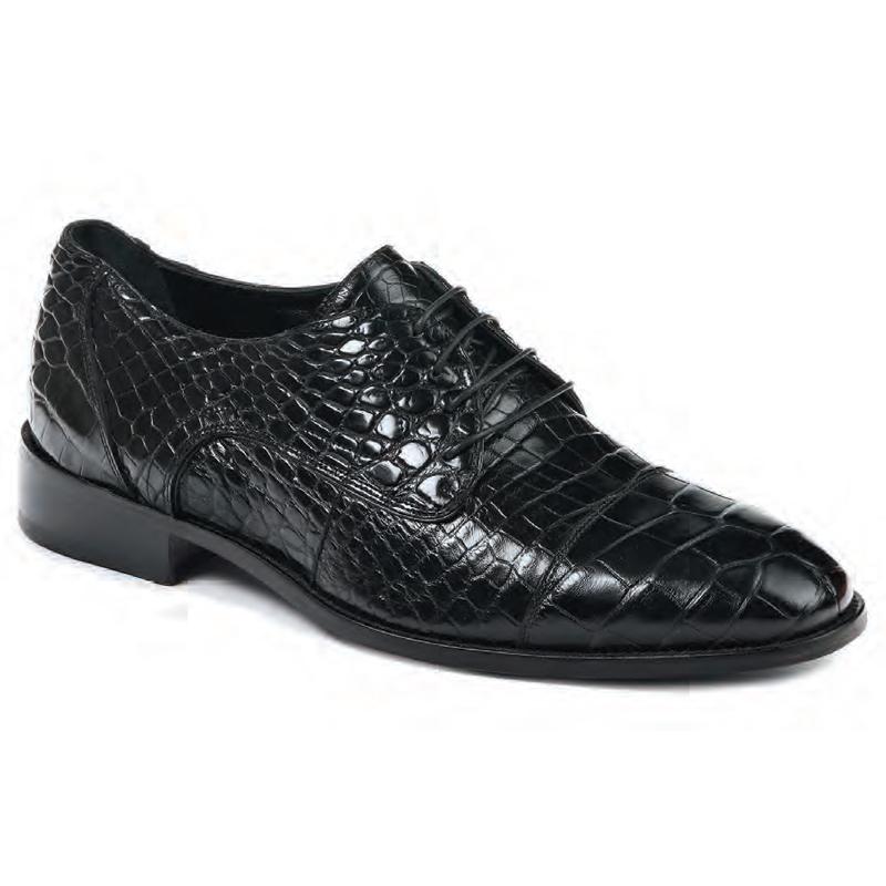 Mauri 4896 Cathedral Alligator Dress Shoes Black Image