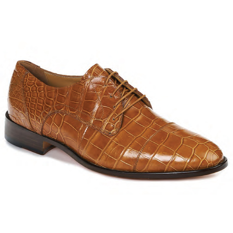Mauri 4896 Cathedral Alligator Dress Shoes Cognac Image