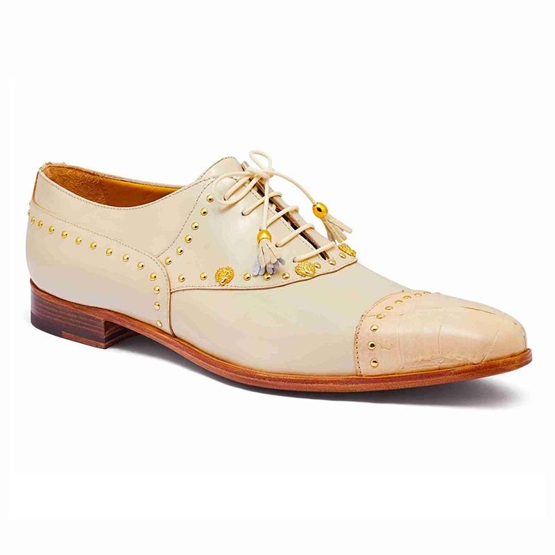 Mauri 4901 Body Alligator / Calfskin Shoes Cream Image